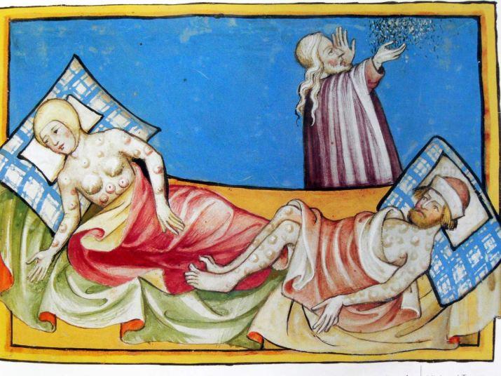 archív MR Vyobrazenie Čiernej smrti vtzv. Toggenburgovej Biblii (1411)